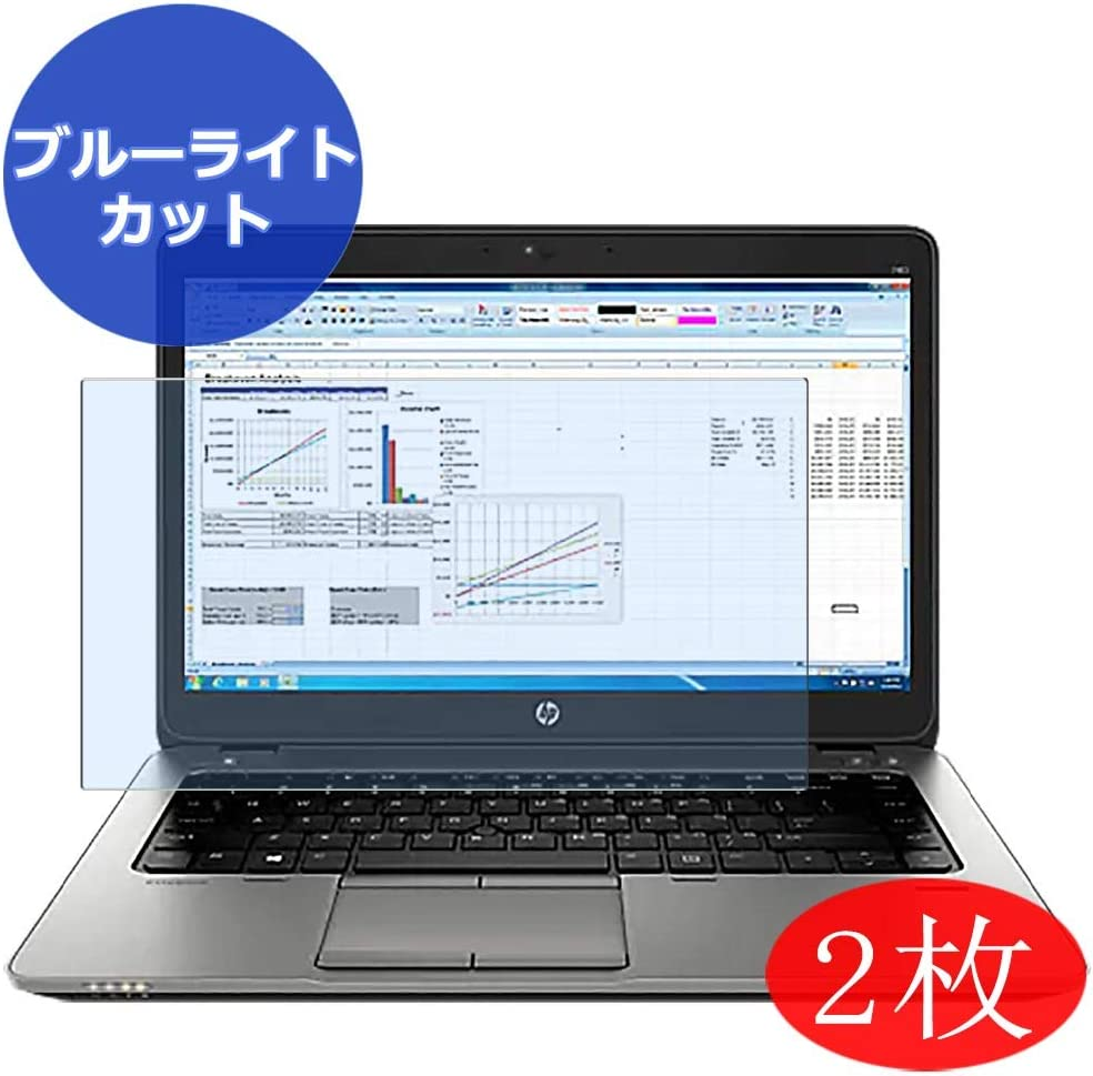 """【2 Pack】 Synvy Anti Blue Light Screen Protector for HP EliteBook 725 G2 12.5"""" Screen Film Protective Protectors [Not Tempered Glass]"""