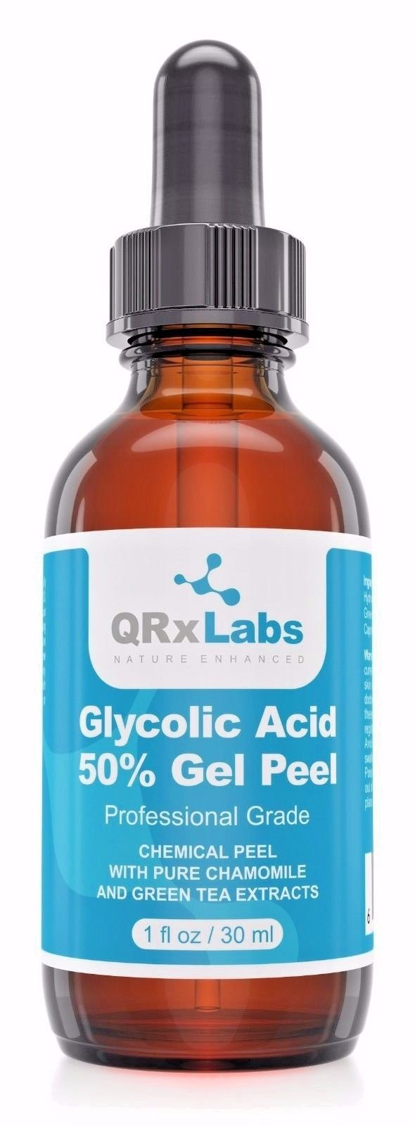 Glycolic Acid 50% Gel Peel with Chamomile and Green Tea Extracts – Professional Grade Chemical Face Peel for Acne Scars, Collagen Boost, Wrinkles, Fine Lines – Alpha Hydroxy Acid – 1 Bottle of 1 fl oz