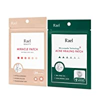 Rael Acne Pimple Healing Patch - Microneedle Acne Spot, Absorbing Cover, Invisible...
