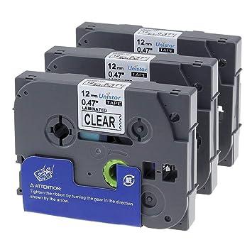5x Etikettenband TZe-231 TZ-231 für Brother P-touch H105WB H100LB P750W 12mmx8m