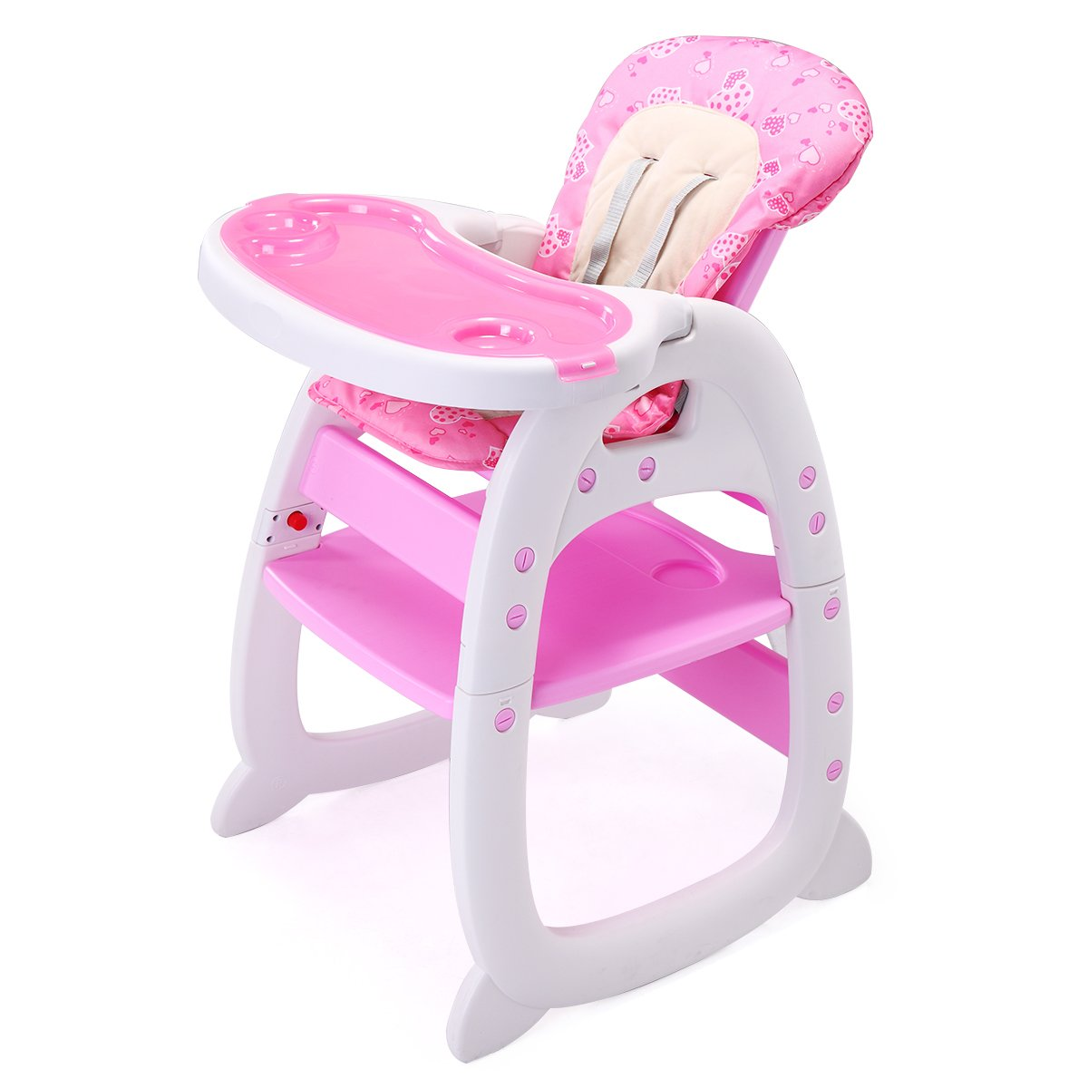 JAXPETY 3in1 Convertible Infant High Chair Play Table Seat Booster Toddler Feeding Tray