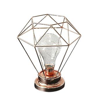 LEDMOMO Lámpara de mesa de terrario de metal estilo Edison ...