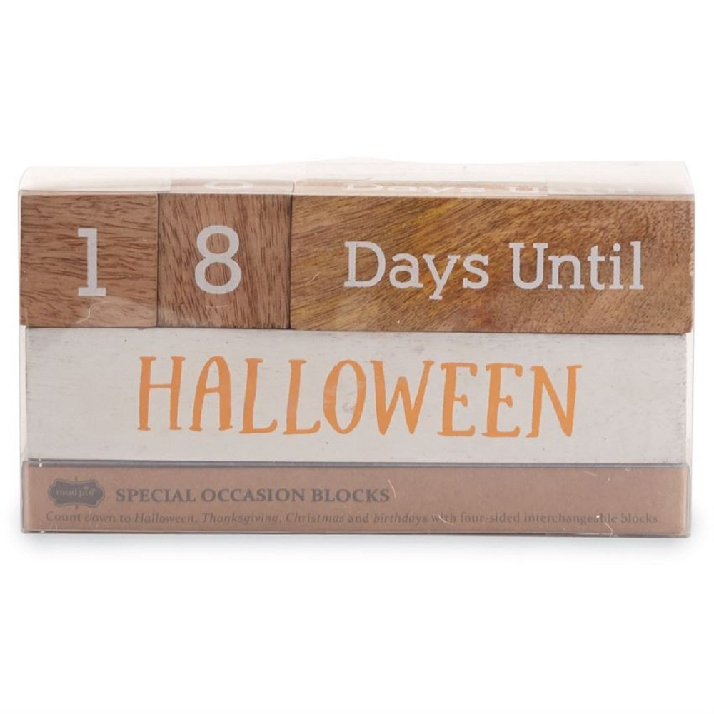 Halloween Thanksgiving Christmas Countdown.Multi Holiday Wooden Count Down Blocks Christmas Birthday Halloween 3 1 4 X 7 3 4 Inches