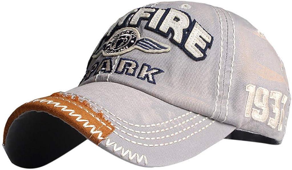 Chapeau de Mode de Chapeau de Femmes Bringbring Casquette de Baseball brod/ée de Fleur de Denim