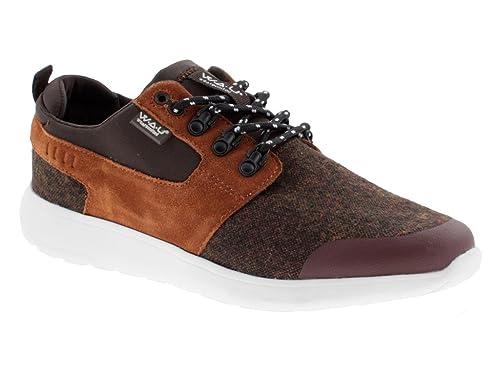 W.A.U. Zapatillas de Material Sintético para hombre Marrón marrón Marrón Size: 44: Amazon.es: Zapatos y complementos