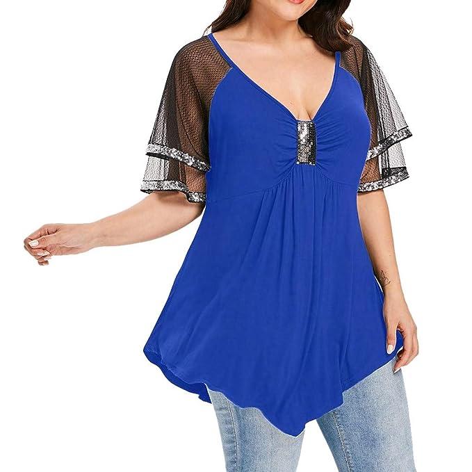 finest selection 02183 ce413 Ginli Tunica Donna Estive Magliette Blouse Eleganti Taglie ...