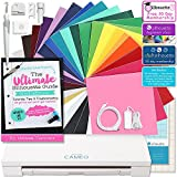 Silhouette CAMEO 3 Bluetooth Starter Bundle with 24-12x12 Oracal 651 Sheets, Silhouette Ultimate Guide Paperback, Class, and More