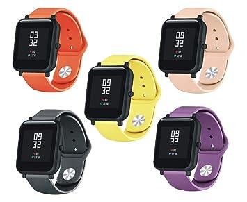 SongNi® for Xiaomi huami AMAZFIT Bip Youth Straps Correas [5 ...