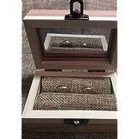Caja porta alianzas de madera. Regalo para bodas, novios, compromiso. Regalo personalizado