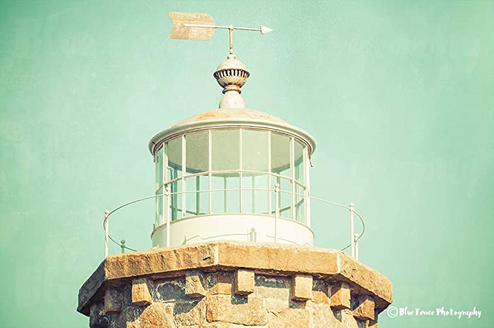 Amazon.com: Lighthouse Print, Coastal Wall Art, Nautical Decor ...