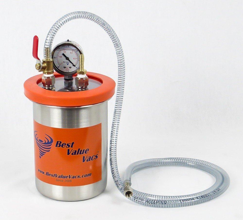 2 Quart Resin Trap//Vacuum /& Degassing Chamber MADE IN USA