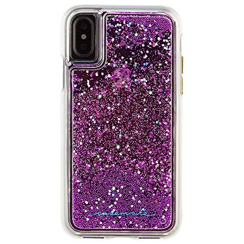 Case-Mate iPhone X Case - WATERFALL - Cascading Liquid Glitter - Protective Design - Apple iPhone 10 - Magenta
