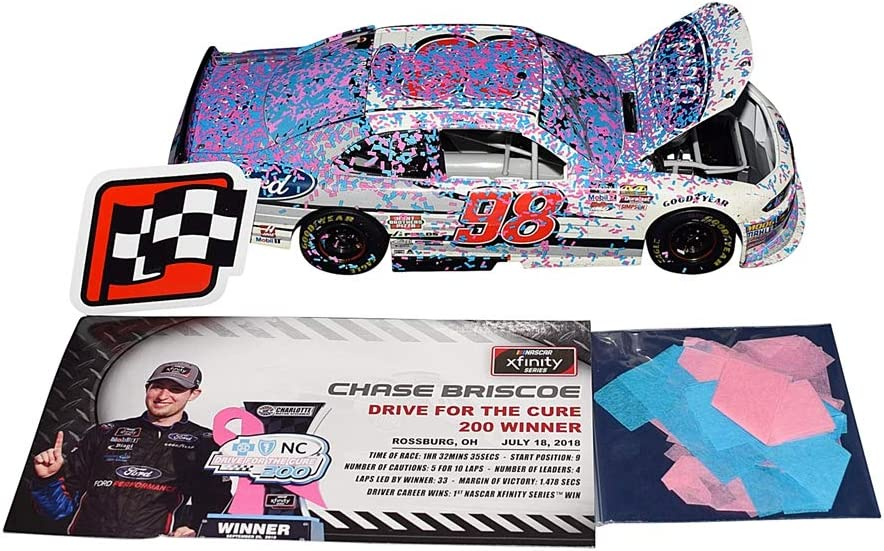 SIGNED 2019 CHASE BRISCOE #98 NUTRI CHOMPS AUTOGRAPHED 1//24 CAR