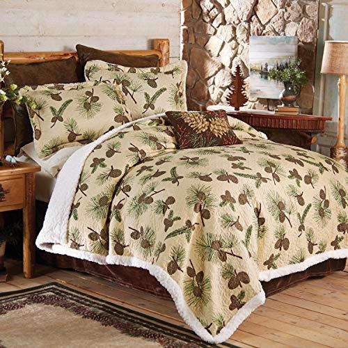 BLACK FOREST DECOR Pinecone Retreat Quilt Bed Set - Queen
