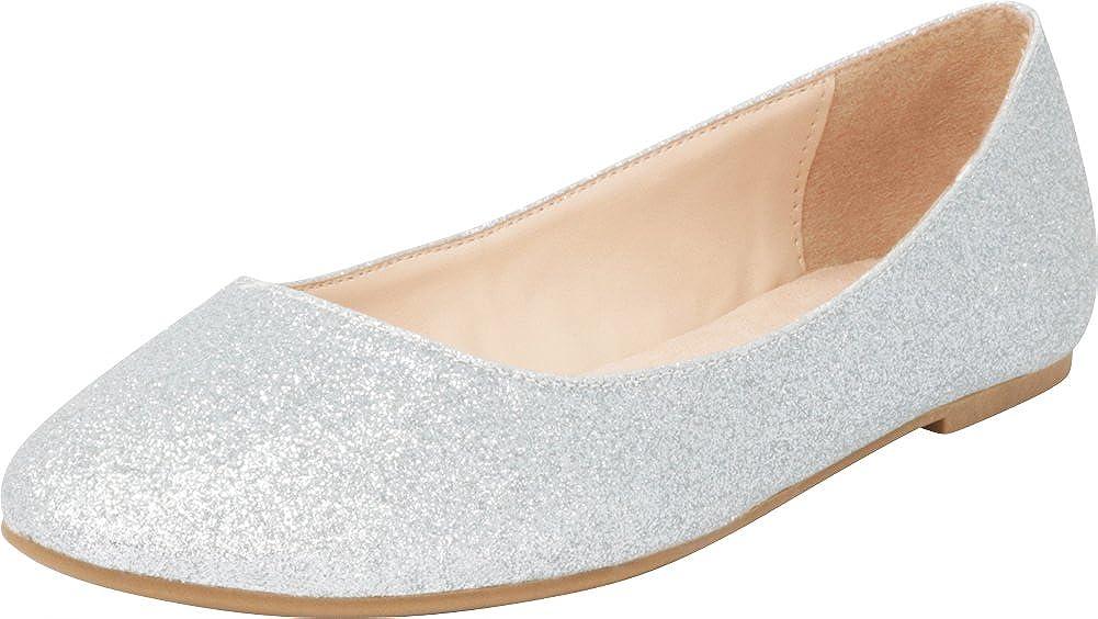 Cambridge Select Women's Classic Slip On Round Toe Ballet Flat