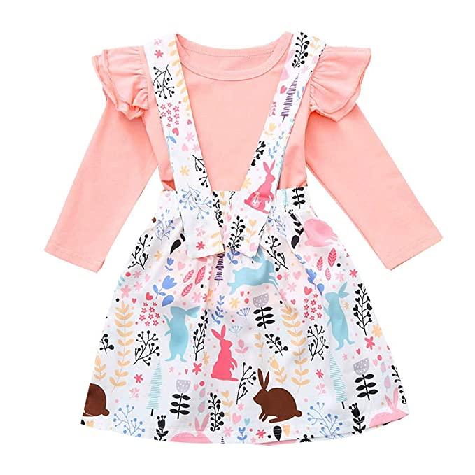 Hwtop T Shirt Top Rock Trägerkleid Anzug Kleinkind Kinder Baby