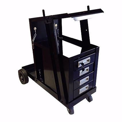 Universal carro de 4 cajones Armario de soldadura MIG TIG ARC deslizante armario soldador cortador de