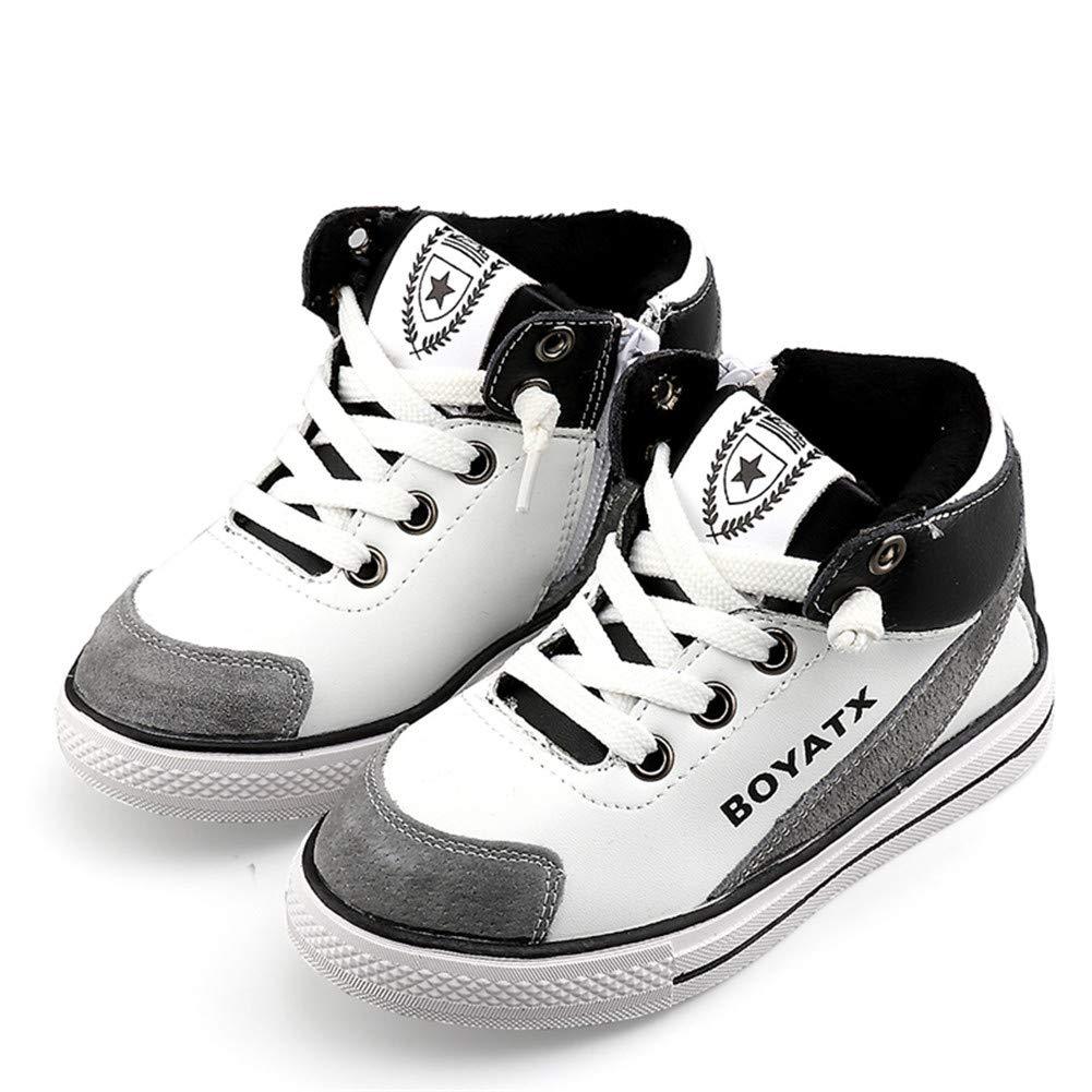 LONIY Boy High Top Sneaker Baby Girl Shoe Children Whiter Casual Shoe