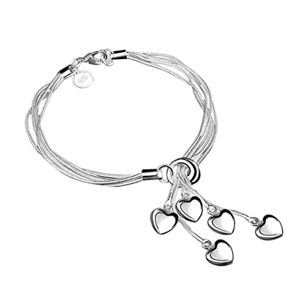 3a9975b1b Amazon.com: Clearance ! Bracelet, Fitfulvan 2018 Ocean Sea Shell Starfish  Unique Faux Pearl Bracelets Bangles Pendant Jewelry (Silver): Kitchen &  Dining