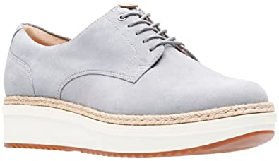 7787f5c8a7b Amazon.com   CLARKS Women's Teadale Rhea Light Grey Suede 9 B US   Shoes