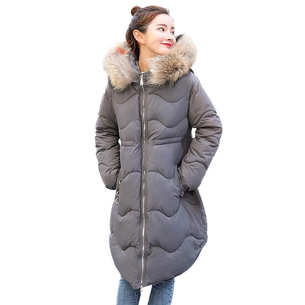 Seaintheson Women's Coats OUTERWEAR レディース B07HRF2823  グレー XXX-Large