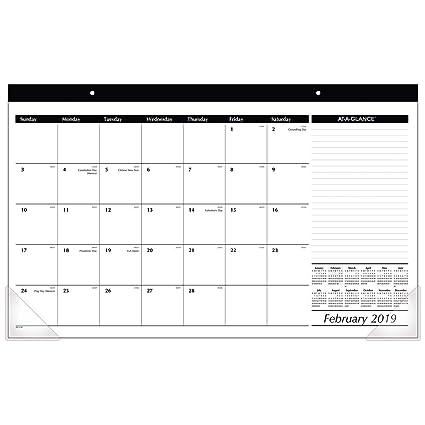 Amazon Com At A Glance 2019 Desk Calendar Desk Pad 17 3 4 X 11