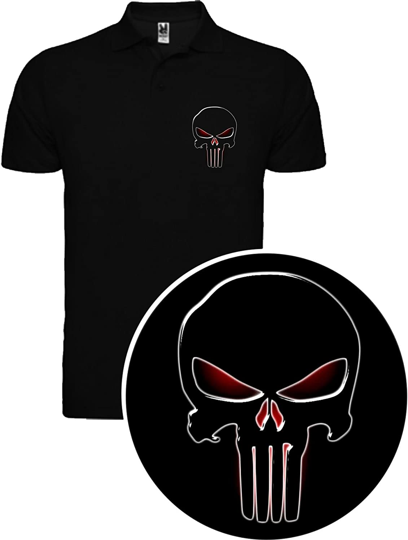 The Fan Tee Polo de Hombre Punisher El Castigador Comic Calavera ...