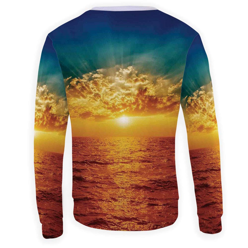 Mens Ocean Decor Crewneck Sweatshirt-Unisex