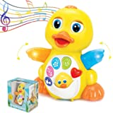 ToyThrill Duck Toy - Musical Baby Toys for 1 Year Old Girl & Boy, Babies, Infant or toddler - Music, Light Up & Dancing…