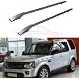 Black UDP-Auto 2Pcs Fit for Land Rover Discovery 3 Discovery 4 LR3 LR4 2003-2016 Aluminium Crossbar Cross Bar Baggage Luggage Racks Roof Racks Rail Bar