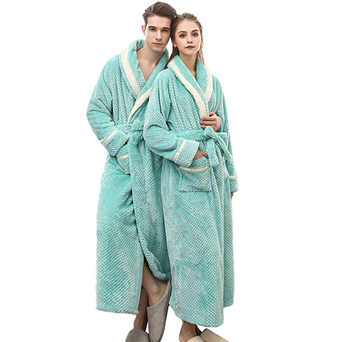 selected material attractivedesigns attractive & durable Clearance Sales Christmas Unisex Winter Plush Shawl Bathrobe Lengthened  Thicken Kimono Robe Homewear Soft Sleepwear