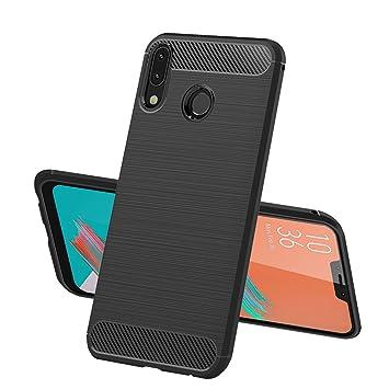 Funda ASUS ZenFone 5 (ZE620KL) TopACE Carcasa Protectora Back Soft Cover Absorción de Choque Resistente y diseño de Fibra de Carbono para ASUS ZenFone ...