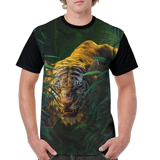 Amazon.com: YALU Forest Tiger - Camiseta para hombre, diseño ...