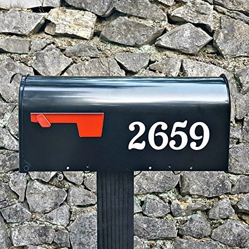 Two sets of Traditional Style Reflective Mailbox Numbers