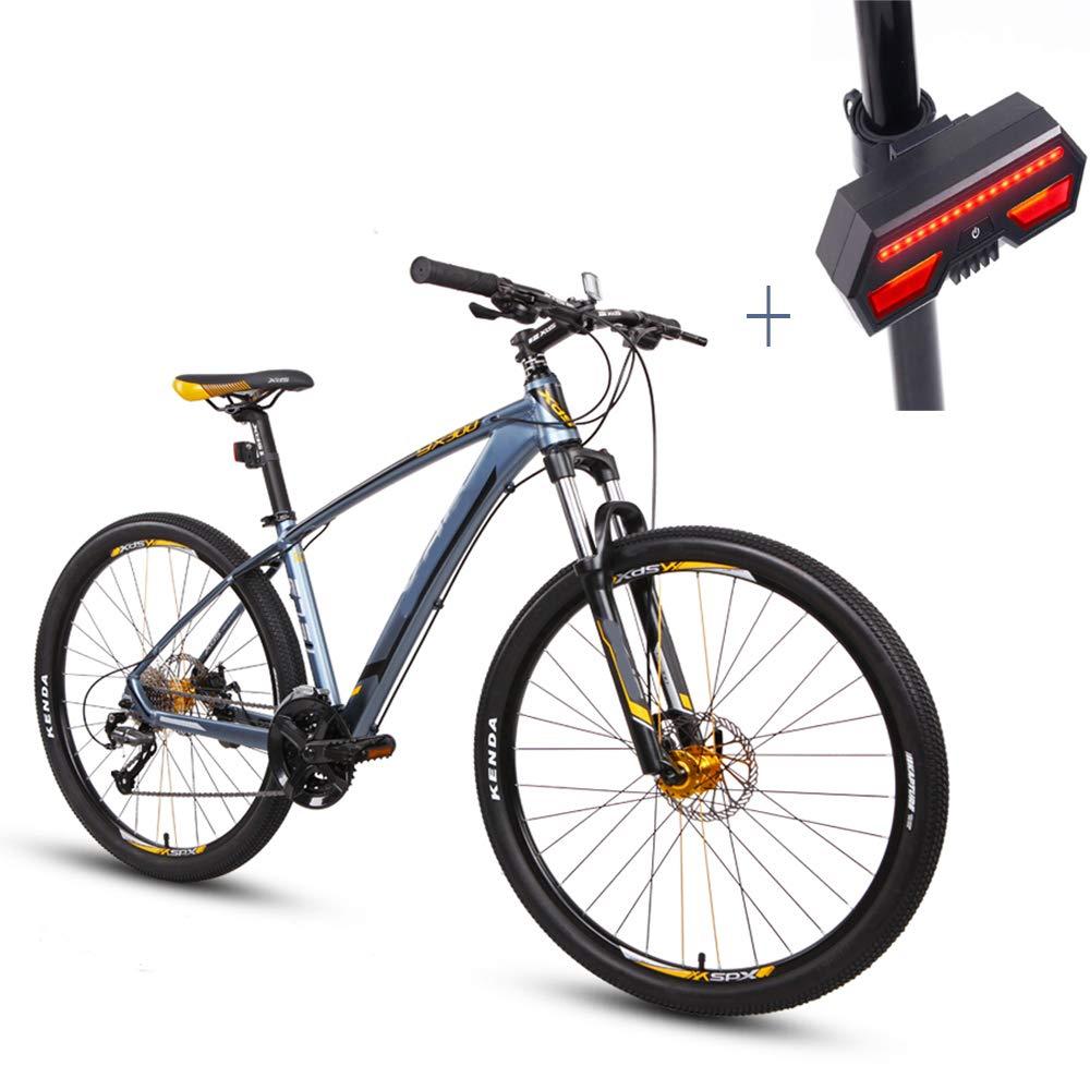 Huoduoduo Bicicleta, Bicicleta De Montaña, 27.5 Pulgadas De 27 DE Velocidad De Disco Doble Freno De Aleación De Aluminio De Alta Gama De Vehículos Todoterreno, Bicicleta De Señal De Vuelta