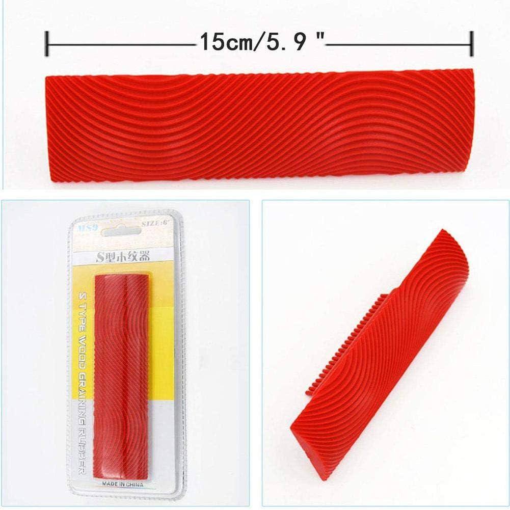 herramienta de grano grano de goma Brochas de goma para decoraci/ón de pared con vetas de pintura resistente estructura de madera decoraci/ón