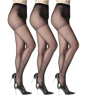 266ecdcc0f2 Sheer Pantyhose for Women 3 Pairs Durable and Comfortable Stockings No Run  Pantyhose Socks Diy Dutting