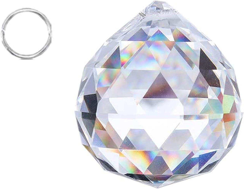 Crystalsuncatcher Suncatchers Clear Glass Crystal Ball Prism Feng Shui Lamp Hanging Drop Chandelier Part (50mm)