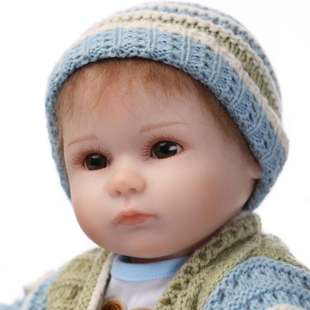 "Rebornベビー人形ソフトビニール新生児Boy Doll 16 "" Magnet Pacifierリアルなおもちゃ   B01F270CDK"