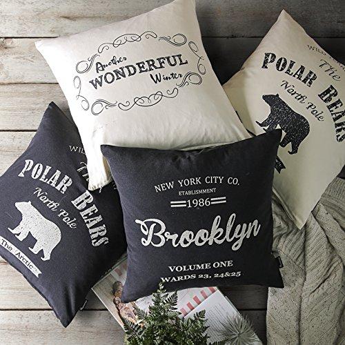 PHANTOSCOPE Decorative Farmhouse Throw Pillow Cover Brooklyn