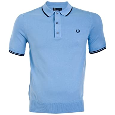 24ea07ca Fred Perry Tipped Knitted Polo Sky Blue: Amazon.co.uk: Clothing