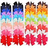 hair ties forever 21 - 40pcs Baby Girl Hair Bow Clips Grosgrain Ribbon Gigham Cheer Bow For Toddlers