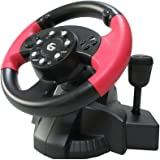 USB Wired Steering Wheel & Pedals with Vibration and gear stick / Racing Wheel with Pedals Controller / For PC DVD, PS3, PS2, Gaming / iCHOOSE