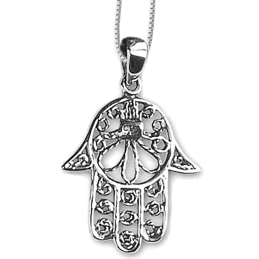 Kleiner Hand der Fatima Anhänger 925 Sterling Silber Fatimas Hand Hamsa
