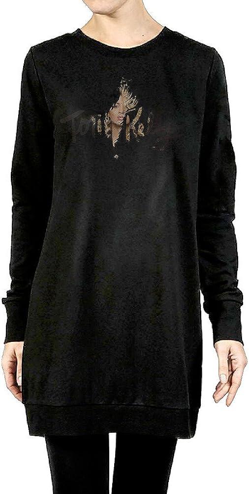 JJZX Tori Kelly Women's Long Crewneck Sweater Black