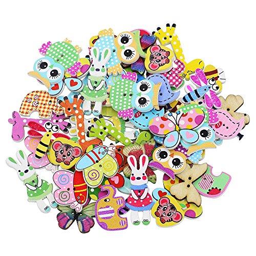 trenton-50x-mixed-cartoon-animal-2-holes-wooden-buttons-sewing-craft-scrapbooking-diy