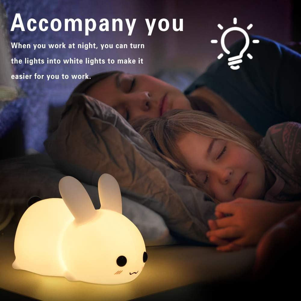 l/ámpara de noche con interruptor t/áctil camping luz nocturna port/átil de silicona para habitaci/ón de beb/é picnic luz blanca c/álida Luz nocturna LED para ni/ños dormitorio sal/ón