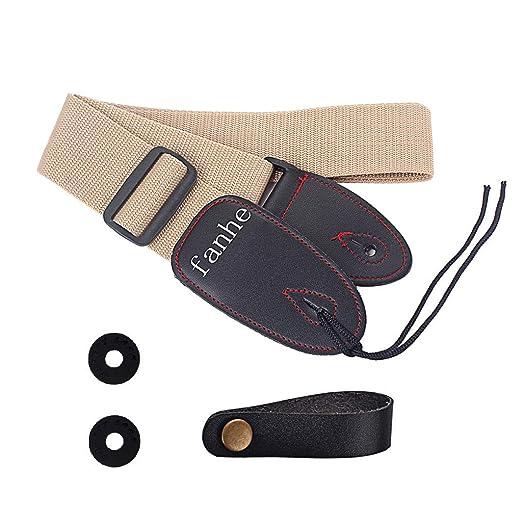 Webla - Juego de correas para guitarra Fanhe Guitarra popular Guitarras para bajo personalizadas Correa para guitarra eléctrica M49 Cinturón + 2 arandelas ...
