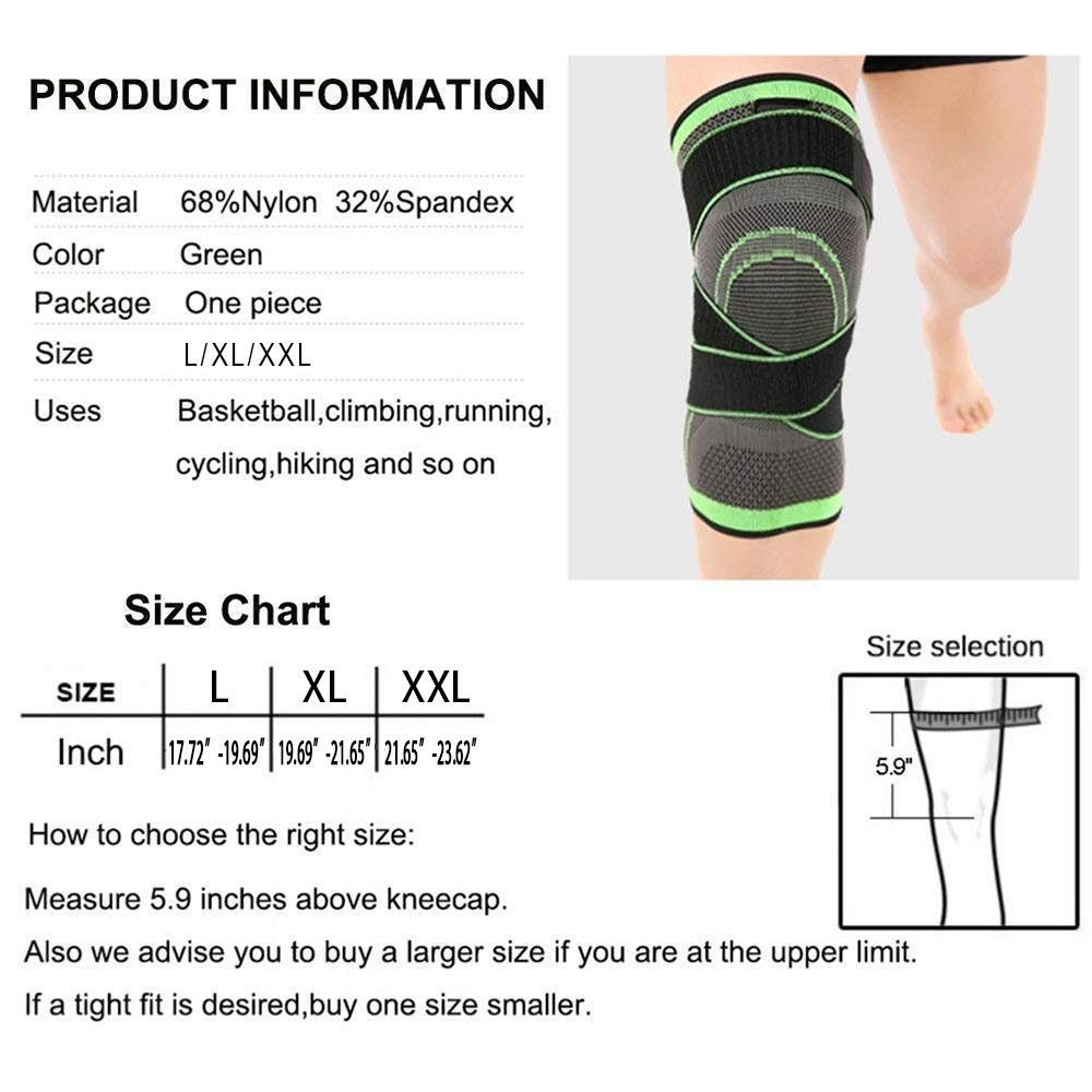 Knee Brace,Conlink Compression Support Knee Sleeve with Adjustable Strap Knee Pad for Pain Relief, Meniscus Tear, Arthritis, ACL, MCL,Suit for Running, Cycling, Tennis, Golf and Basketball by Conlink (Image #3)