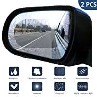 FEZZ Auto Rückspiegel Schutzfolie Wasserdicht Spiegel Glas Folie Anti Nebel Anti Beschlag Blendfreie Kratzfest Universal 2 Stück(145mm * 100mm SUV)